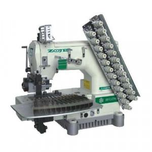 12-игольная машина для пришивания эластичной нити Zoje ZJ1414-100-403-601-616-12064