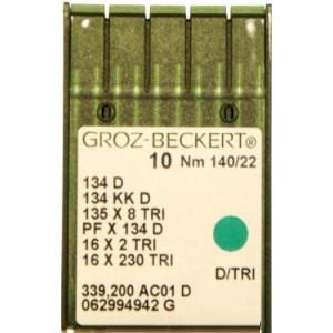 Игла Groz-Beckert 134 D, 134 KKD, 135x8 TRI с толстой колбой для толстой кожи 10 шт/уп