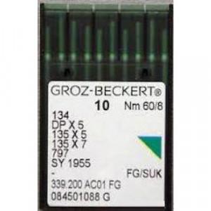 Игла Groz-Beckert 134, DPx5, 135x5 FG с толстой колбой для трикотажа 10 шт/уп