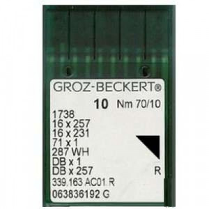 DBx1Groz-Beckert Иглы с тонкой колбой для прямострочки 10 шт/уп